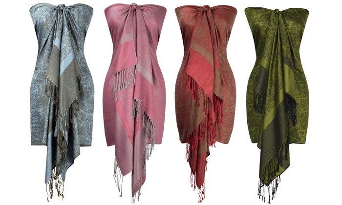 f3662fb7235 Up To 76% Off on Women's Pashmina Shawl Wrap | Groupon Goods