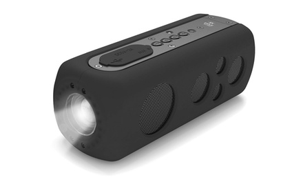 SoundBox Splash 2 Bluetooth Speaker System with Built-in Flashlight and Hand Crank Turbine Charger