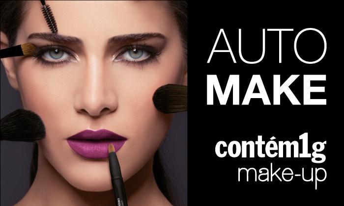Contém1g make-up: Contém1g make-up – 28 endereços: Curso de Automaquiagem com 70% de desconto