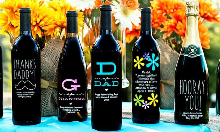 Miramonte Winery: Custom-Etched Bottle of Wine from Miramonte Winery