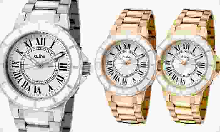 a_line Marina Women's Watches: Gold, Rose-Gold, or Silver a_line Marina Women's Watch (93% Off). Free Shipping and Free Returns.