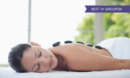 Hot Stone or Swedish Back, Neck and Shoulder Massage and Express Facial at Butterfly Beauty (Up to 65% Off)
