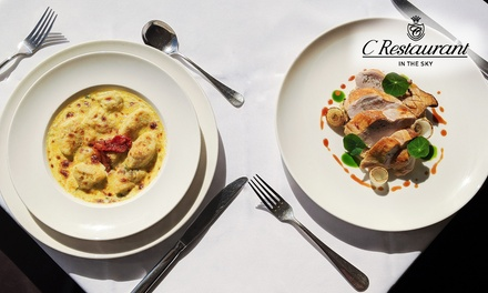 Fine-Dining Lunch with Wine for Two ($55), Four ($110) or Six People ($165) at C Restaurant (Up to $318 Value)