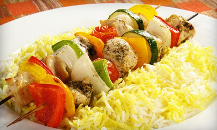 Afghan Kabob Fusion-Choopan Grill - Six Mile Run: Authentic Cuisine for Two or Four for Lunch or Dinner at Afghan Kabob Fusion-Choopan Grill (Up to 56% Off)