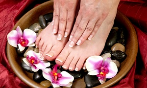 Shear Love Salon: One or Two Gel Manicures with Basic Pedicures at Shear Love Salon (Up to 59% Off)