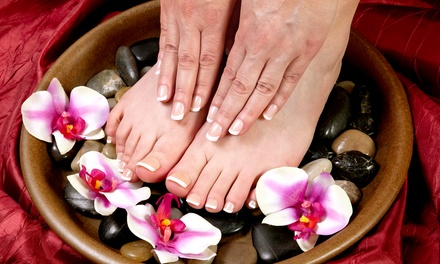 One or Two Gel Manicures with Basic Pedicures at Shear Love Salon (Up to 59% Off)