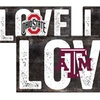 "NCAA 12""x6"" Love Sign"
