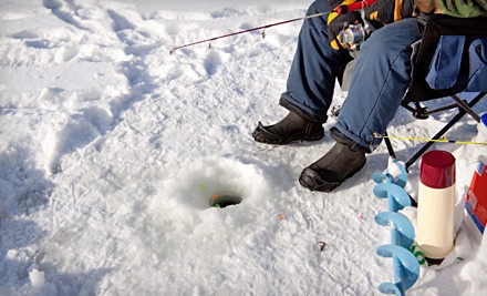Fishing lessons ice fishing alberta groupon for Ice fishing deals