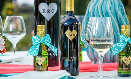 groupon daily deal - One or Two Custom-Engraved Bottles of Wine from Miramonte Winery (Up to 52% Off)