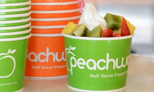 Peachwave Yogurt: One or Three Groupons, Each Good for $10 Worth of Fro-Yo at Peachwave Yogurt (Up to 47% Off)
