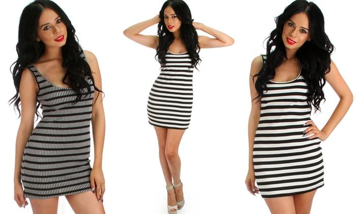Women's Striped Bodycon Dresses