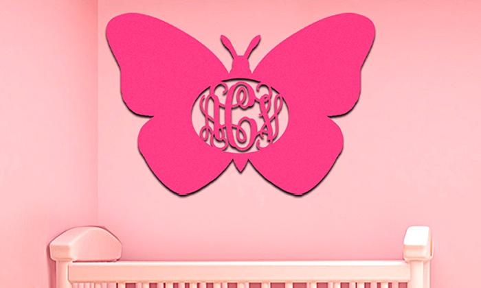 aMonogram Art: $24.99 for One Unpainted Custom Wood Monogram Butterfly from aMonogram Art ($58.50 Value)