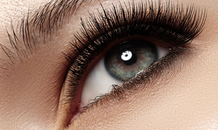 Semi-Permanent or Russian Style Eyelash Extensions with Optional Threading at Bow Beautiful (Up to 53% Off)