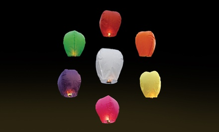 20-Pack of Chinese Sky Fly Fire Lanterns