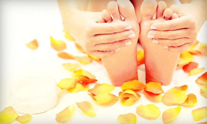 Lavender's Beauty Spa - Dunbar-Southlands: Express Mani-Pedi or Deluxe Mani-Pedi at Lavender's Beauty Spa (Up to 59% Off)