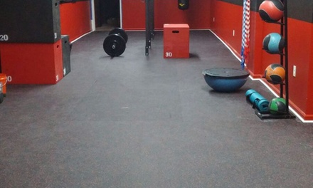 OneMonth Membership with a PersonalTraining Session at No label fitness (45% Off)
