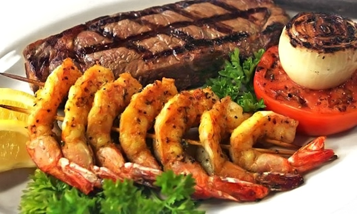 Malibu Steak and Seafood - Pearland: Surf and Turf Cuisine at Malibu Steak and Seafood (Up to 50% Off). Three Options Available.