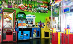 Zig-E's Funland: 45 Arcade Tokens, Popcorn, and Drinks for One, Two, or Four at Zig-E's Funland (Up to 49% Off)