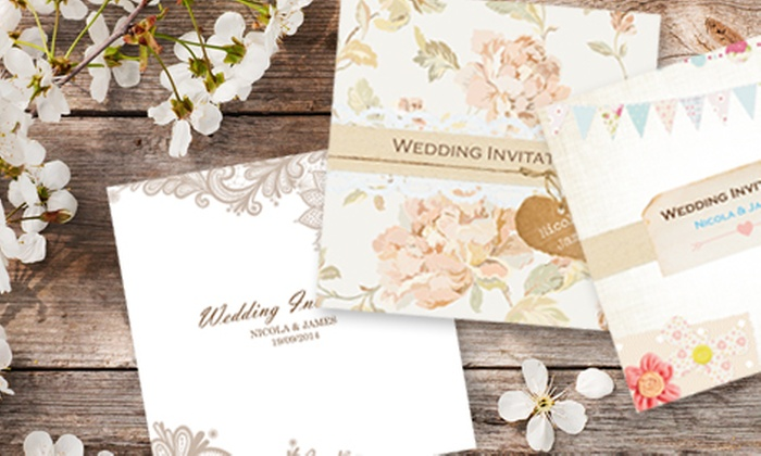 Personalised Wedding Invitations Groupon Goods