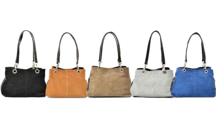Carla Belotti Giselle NubuckHandbag in Choice of Colour for £22