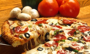 Time Out Cafe: Pizza-and-Wings Combo with Drinks for Two or Four at Time Out Cafe (Up to 40% Off)