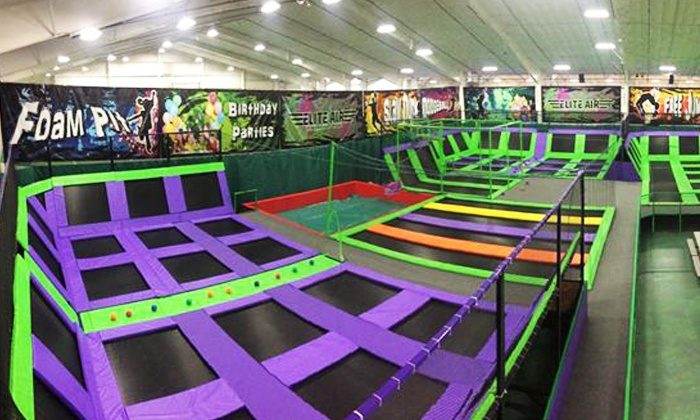 Elite Air Trampoline Park - Lafayette, IN: 60-Minute Jump Session for Two or Four Any Day or Monday-Thursday at Elite Air Trampoline Park (Up to 45% Off)