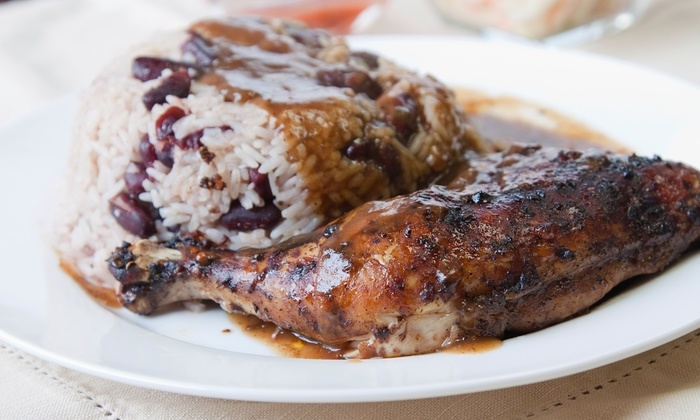 The Jerk Pit - North College Park: Jamaican Fare at The Jerk Pit in College Park (40% Off). Two Options Available.