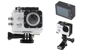 1080p Full-HD Action Camera with Waterproof Case and Mounting Kit at 1080p Full-HD Action Camera with Waterproof Case and Mounting Kit, plus 6.0% Cash Back from Ebates.