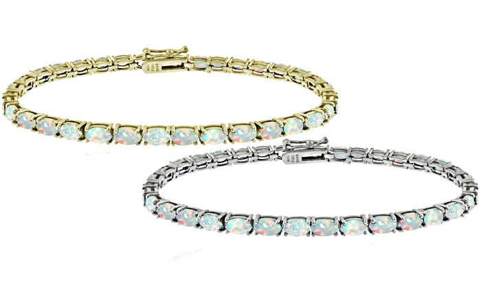 white opal bracelet sterling product silver solid opals tennis fremantle