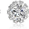 2.00 CTTW Genuine White Topaz Stud Earrings in 18K Solid White Gold