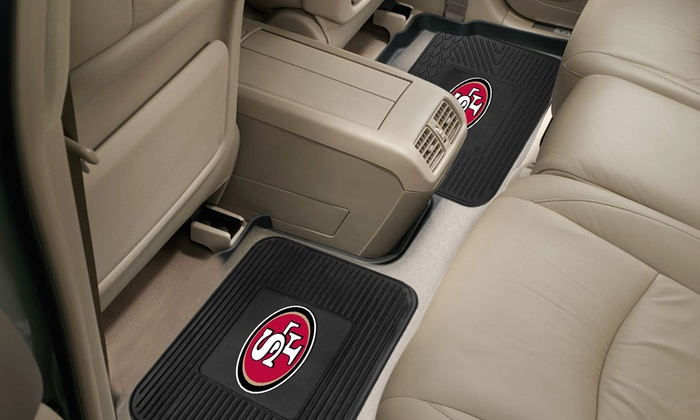 2-Pack of San Francisco 49ers Utility Mats: 2-Pack of San Francisco 49ers Utility Mats
