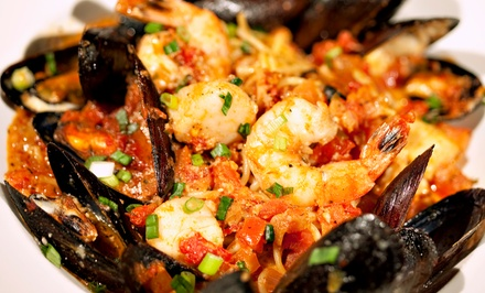 Shrimp, Clams, Mussels, Crawfish, Snow Crab, Lobster at Cajun Islands (Up to 41% Off). Three Options Available.