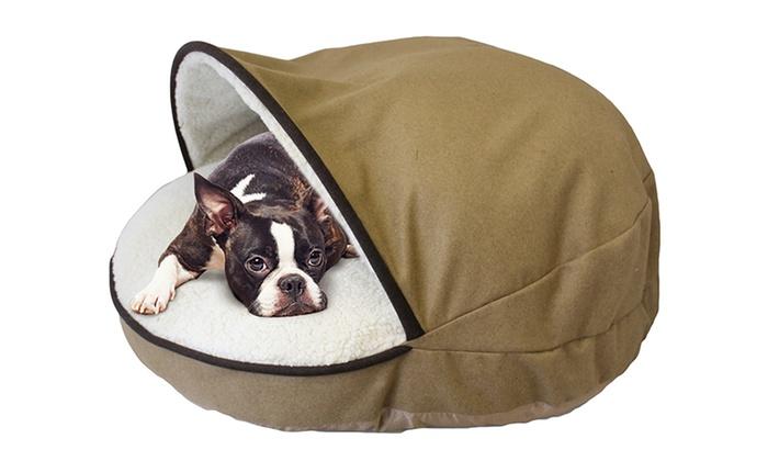 Round Cave Hamburger Pet Bed Groupon Goods