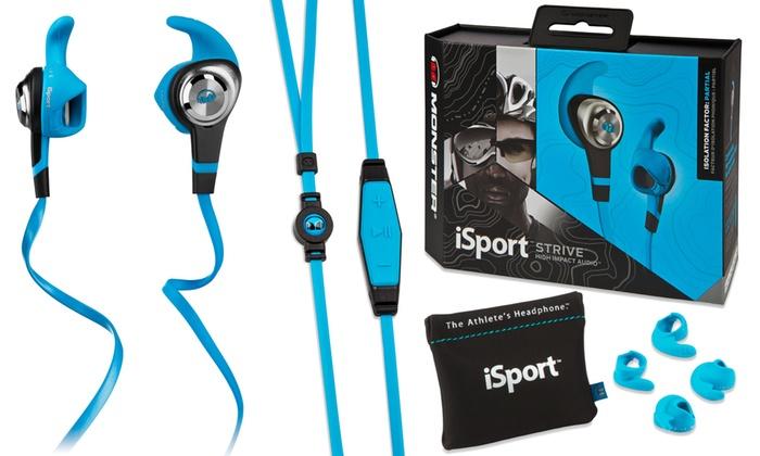 ddaca039d20 Monster iSport Strive Sweatproof Antimicrobial In-Ear Buds