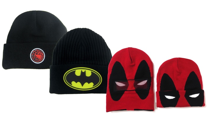 e6be86f3285 Up To 68% Off on DC and Marvel Superhero Beanie