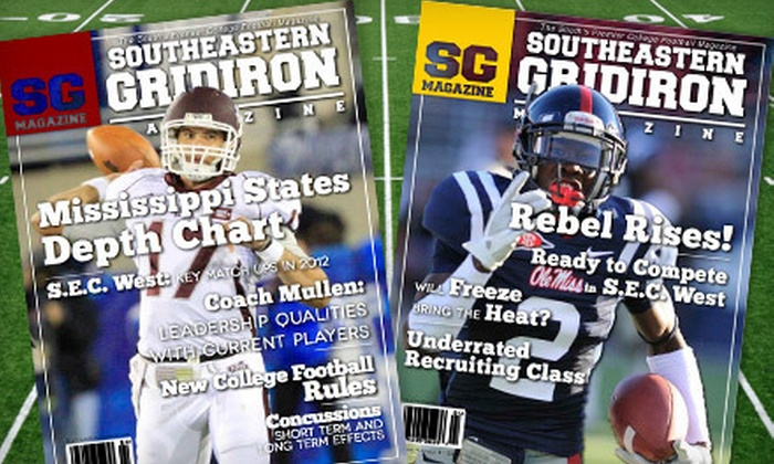"Southeastern Gridiron Magazine - Jackson: One-Year Silver or Gold or Two-Year Gold Subscription to ""Southeastern Gridiron Magazine"" (Up to 75% Off)"