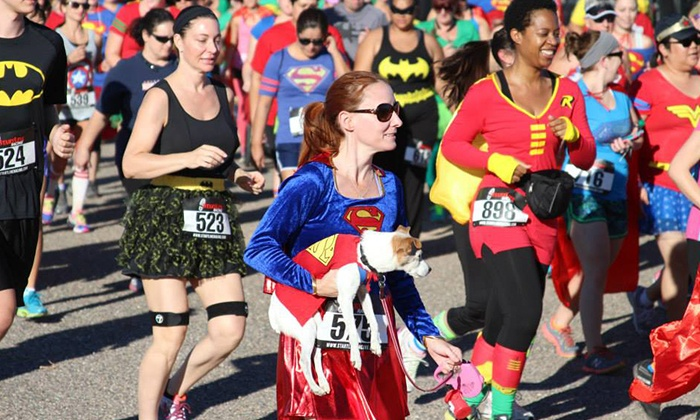 Intense Racing LLC: $20 for Registration for One for the Super Hero 5K from Intense Racing LLC on October 24 ($45 Value)