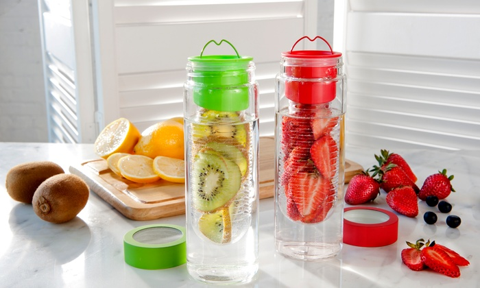 2-Pack of Flavour It Fruit-Infuser Bottles: 2-Pack of Flavour It Fruit-Infuser Bottles. Multiple Colors Available. Free Returns.