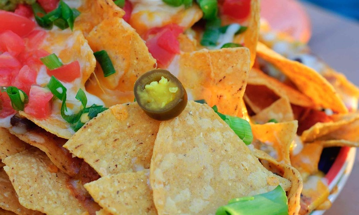 Joe Dog's Gasbar Grill - Burlington: Nachos, Wings, and Soft Drinks for Two or Four at Joe Dog's Gasbar Grill (Up to 48% Off)