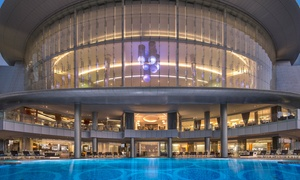 Nahaam-Jumeirah Hotel at Etihad Towers: Barbecue Dinner with Soft Drinks, Pool and Beach Access at Nahaam, 5* Jumeirah Hotel at Etihad Towers (Up to 76% Off)