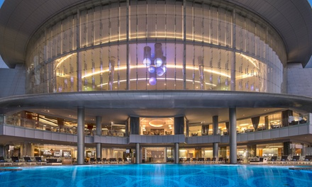 Barbecue Dinner with Soft Drinks, Pool and Beach Access at Nahaam, 5* Jumeirah Hotel at Etihad Towers (Up to 76% Off)