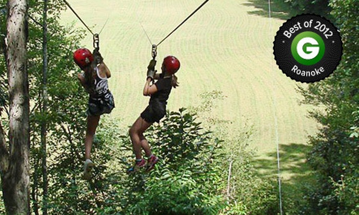 Carolina Ziplines Canopy Tour - Near Hanging Rock State Park: $ 45 for a Two-Hour Standard Day Tour or Night Lantern Tour at Carolina Ziplines Canopy Tour (Up to $ 90 Value)