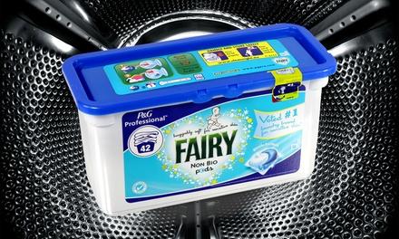 42 £11.99, 84 £22.99 or 168 £41.99 Washes of Fairy Non Bio Capsules
