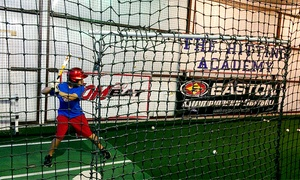 The Hitting Academy: Batting Cage Sessions or Private Hitting Lessons at The Hitting Academy (Up to 55% Off). Three Options Available.