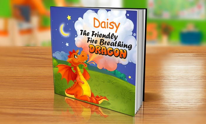 "Dinkleboo: Personalized ""The Friendly Fire Breathing Dragon"" Children's Book from Dinkleboo (Up to 80% Off)"
