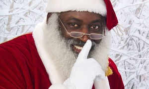 The Real Black Santa: Photo Package with The Real Black Santa (Up to 46% Off). Two Options Available.