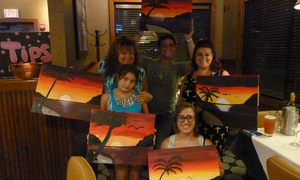 Glitzy Paint Parties: Up to 52% Off Painting Classes at Glitzy Paint Parties