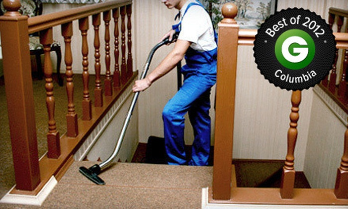 Class It Up Cleaning - Columbia: $49 for Carpet Cleaning for Three Rooms Up to 750 Total Square Feet from Class It Up Cleaning ($120 Value)