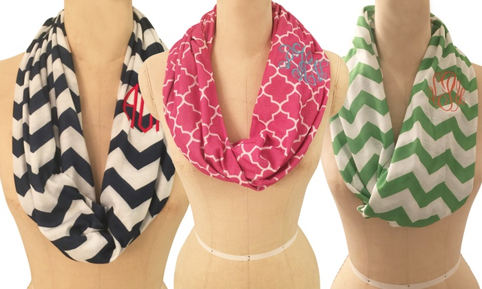 Social Monograms: $19.99 for Custom Monogrammed Infinity Scarf from Social Monograms ($40 Value)