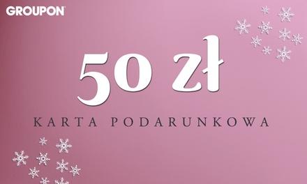 Karta podarunkowa warta 50 zł na dowolne usługi i produkty z Groupon.pl